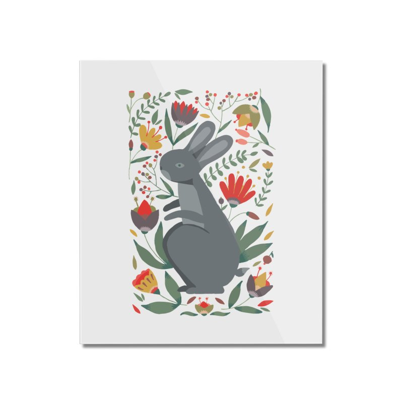 Bunny Home Mounted Acrylic Print by AnastasiaA's Shop