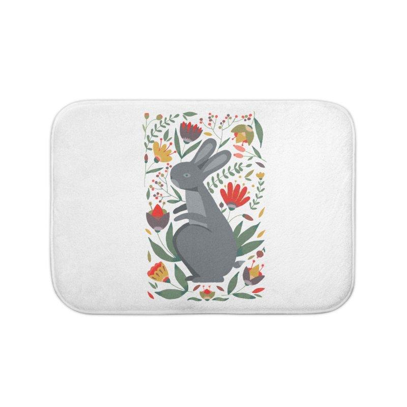 Bunny Home Bath Mat by AnastasiaA's Shop