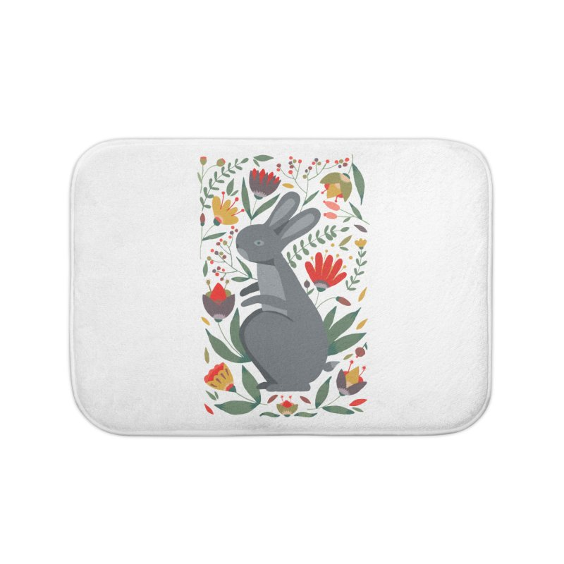 Bunny Home Bath Mat by AnastasiaA's Shop