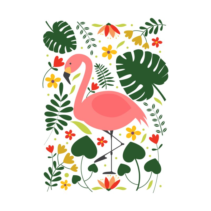 Flamingo Women's Longsleeve T-Shirt by AnastasiaA's Shop