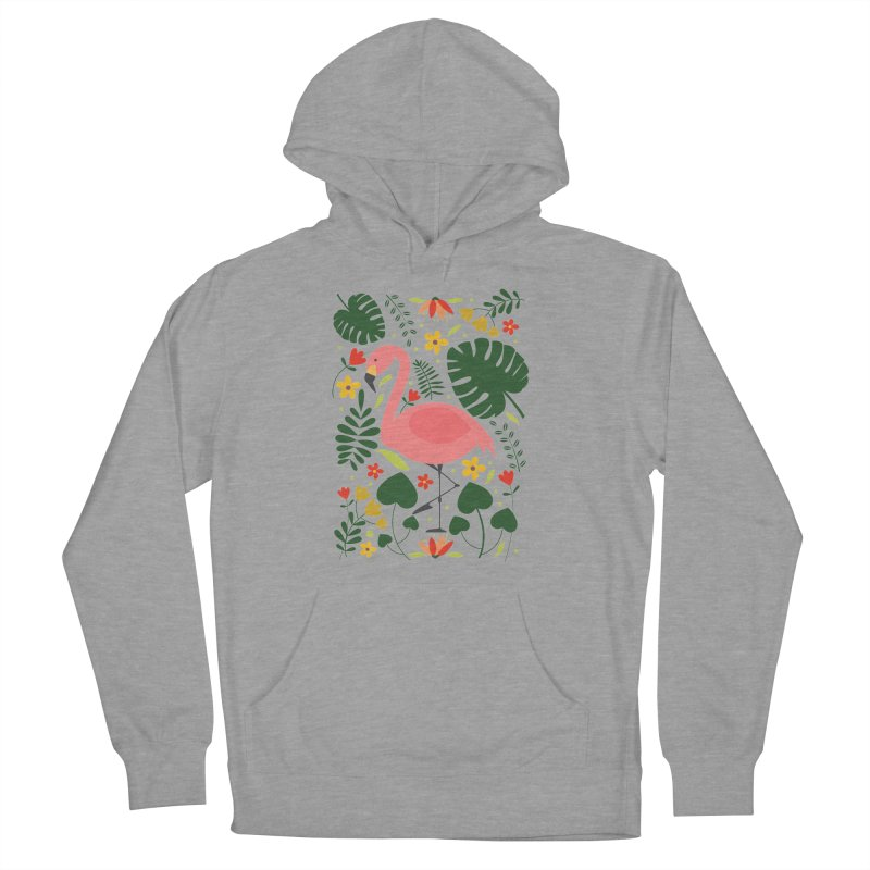 Flamingo Women's French Terry Pullover Hoody by AnastasiaA's Shop