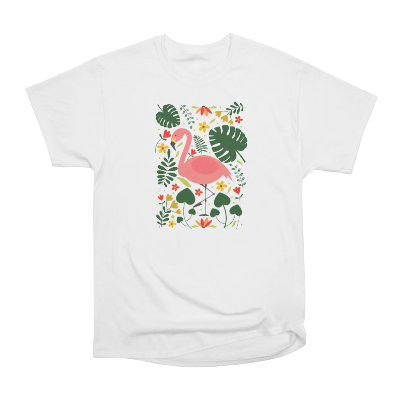 Flamingo Women's Heavyweight Unisex T-Shirt by AnastasiaA's Shop