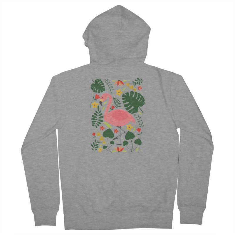 Flamingo Women's Zip-Up Hoody by AnastasiaA's Shop