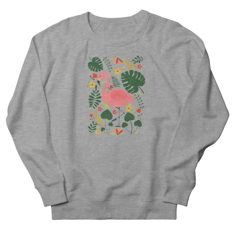 Flamingo Women's French Terry Sweatshirt by AnastasiaA's Shop