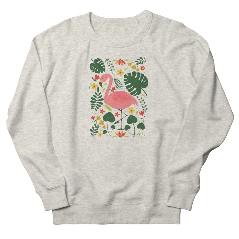 Flamingo Women's French Terry Sweatshirt by AnastasiaA's Shop