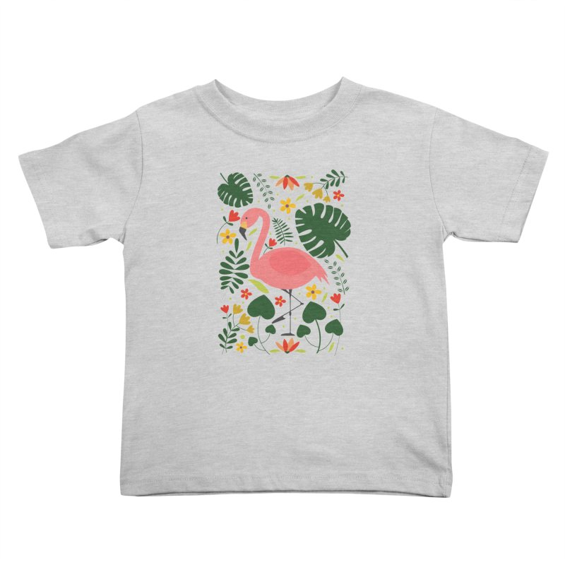 Flamingo Kids Toddler T-Shirt by AnastasiaA's Shop