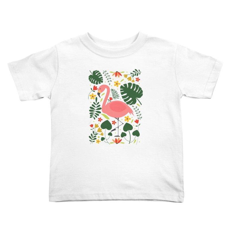 Flamingo Kids Toddler T-Shirt by AnastasiaA's Shop