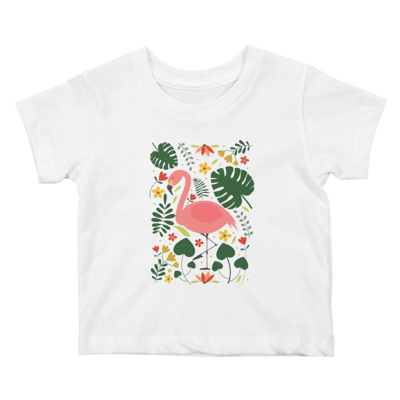 Flamingo Kids Baby T-Shirt by AnastasiaA's Shop