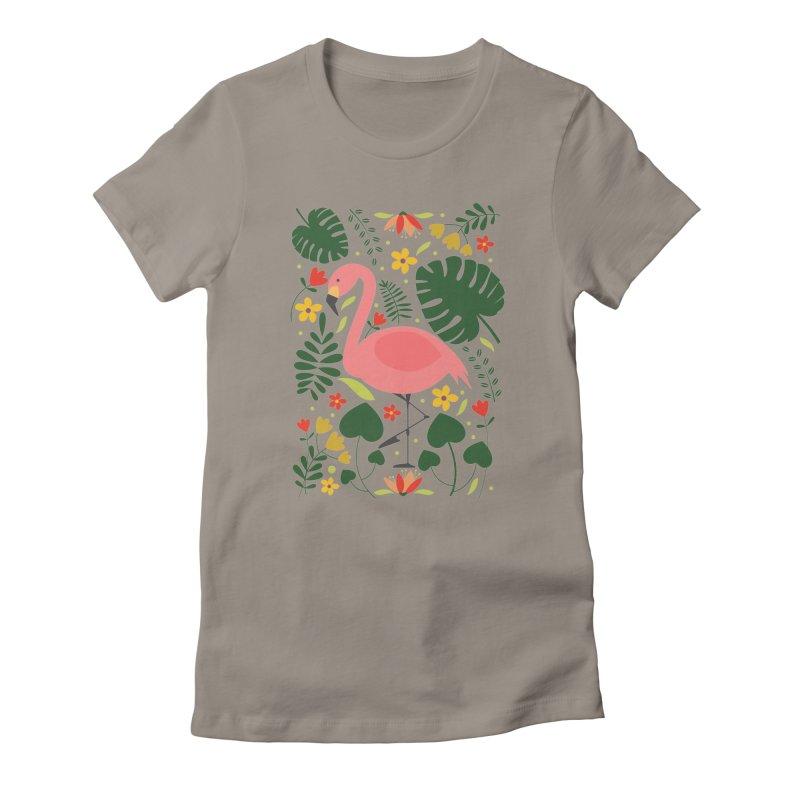 Flamingo Women's T-Shirt by AnastasiaA's Shop
