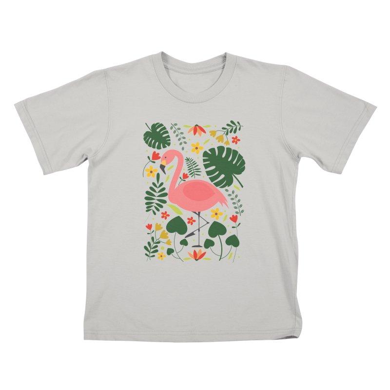 Flamingo Kids T-Shirt by AnastasiaA's Shop