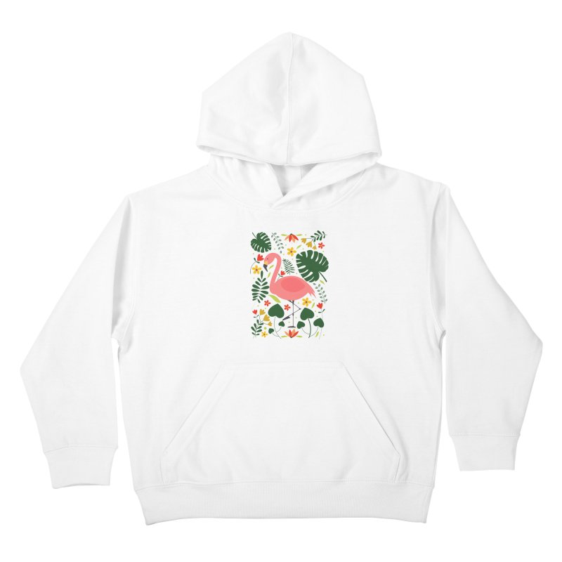 Flamingo Kids Pullover Hoody by AnastasiaA's Shop