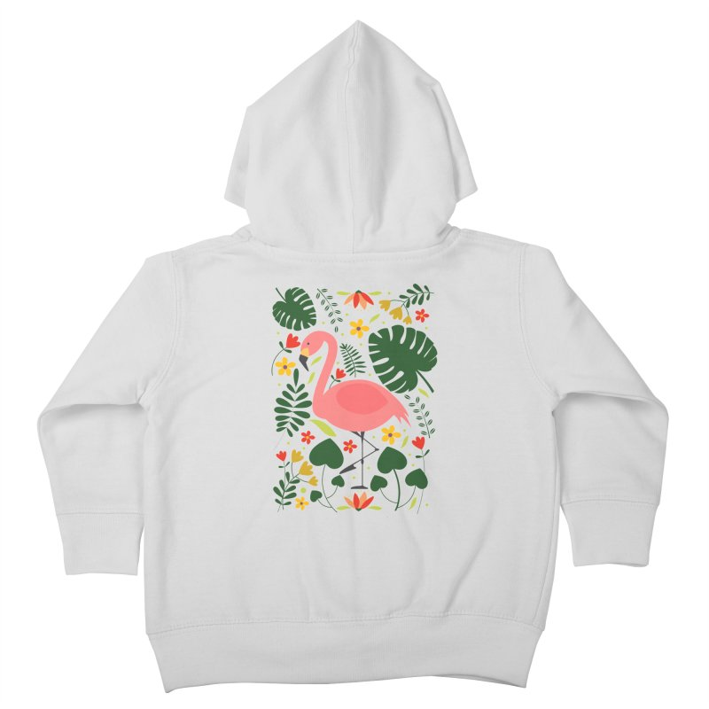 Flamingo Kids Toddler Zip-Up Hoody by AnastasiaA's Shop