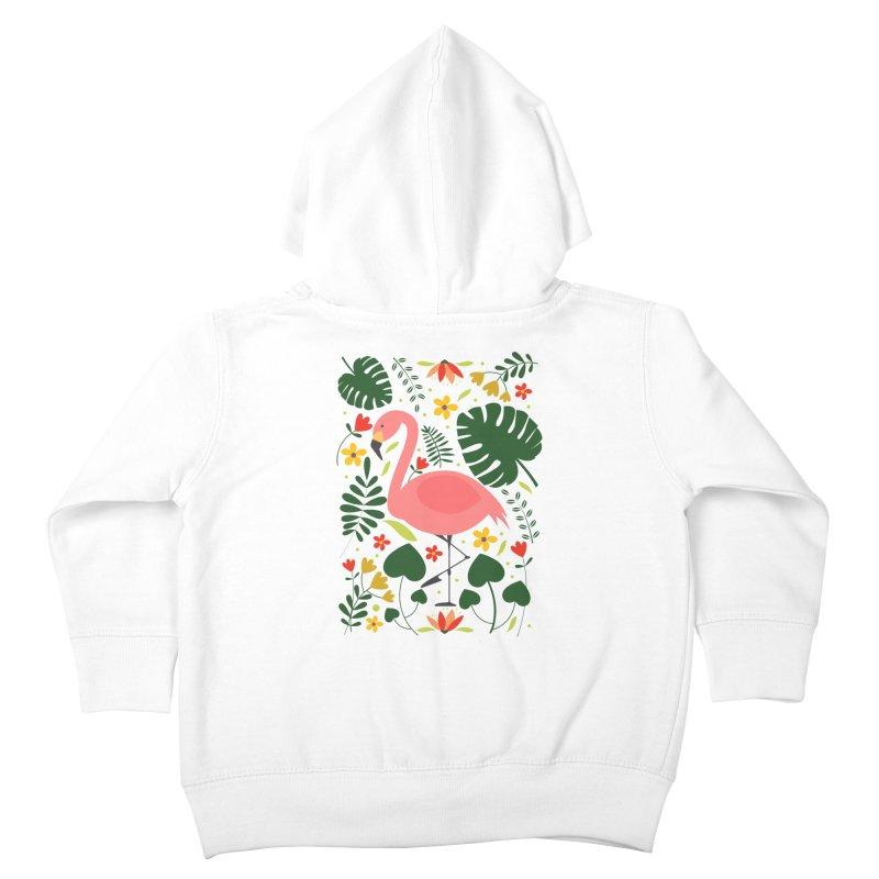 Flamingo Kids Toddler Zip-Up Hoody by AnastasiaA's Shop
