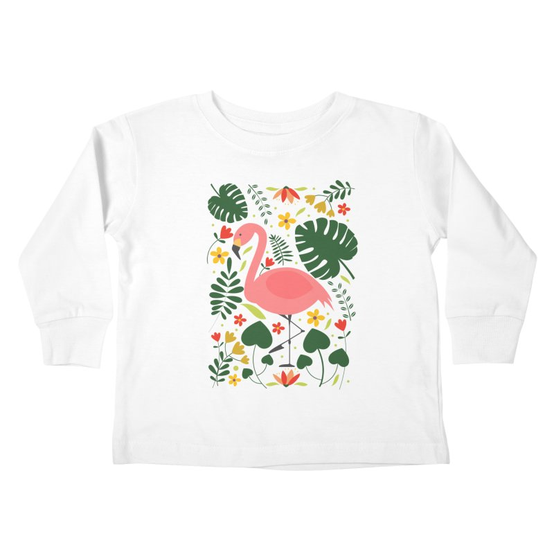 Flamingo Kids Toddler Longsleeve T-Shirt by AnastasiaA's Shop
