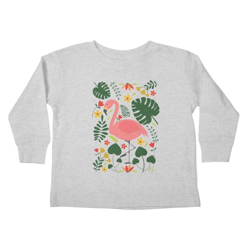 Flamingo Kids Toddler Longsleeve T-Shirt by AnastasiaA's Shop
