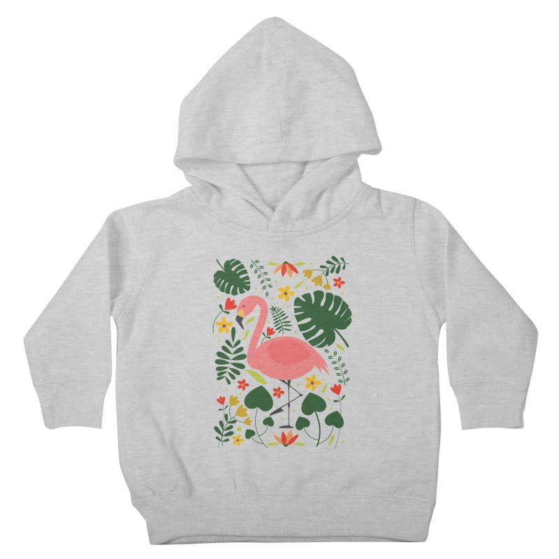 Flamingo Kids Toddler Pullover Hoody by AnastasiaA's Shop