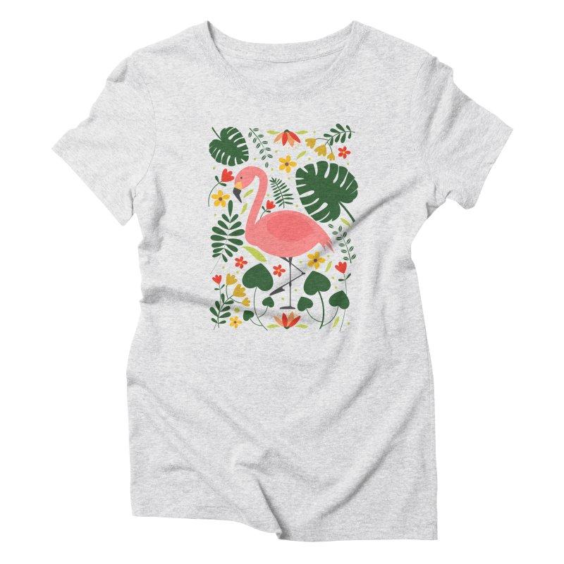 Flamingo Women's Triblend T-Shirt by AnastasiaA's Shop