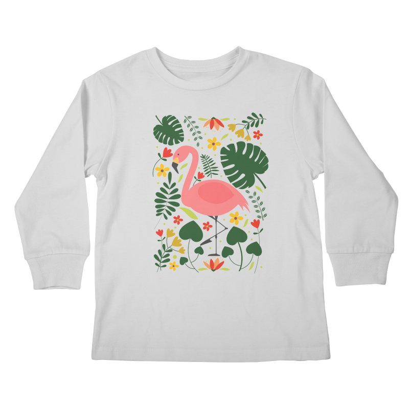 Flamingo Kids Longsleeve T-Shirt by AnastasiaA's Shop