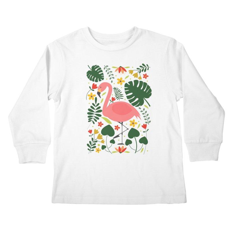 Flamingo Kids Longsleeve T-Shirt by AnastasiaA's Shop