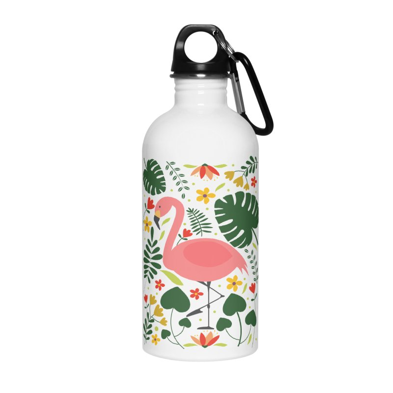 Flamingo Accessories Water Bottle by AnastasiaA's Shop
