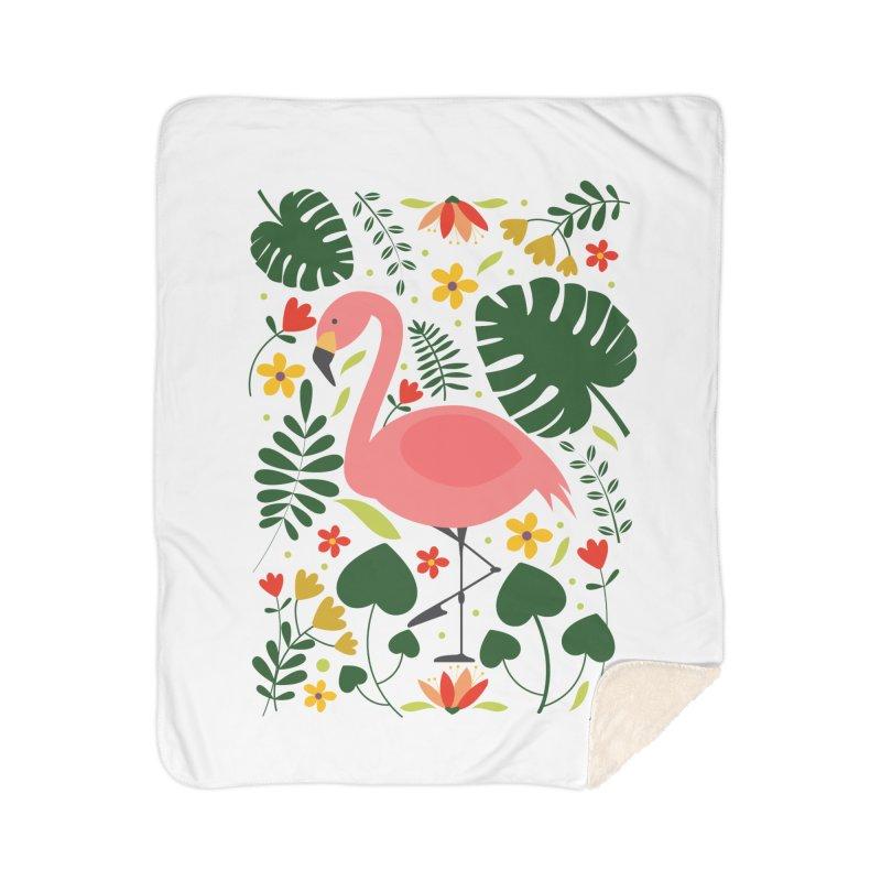 Flamingo Home Sherpa Blanket Blanket by AnastasiaA's Shop