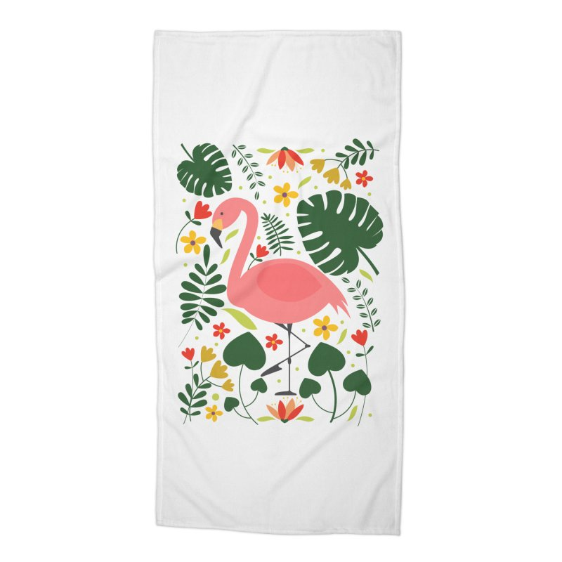 Flamingo Accessories Beach Towel by AnastasiaA's Shop
