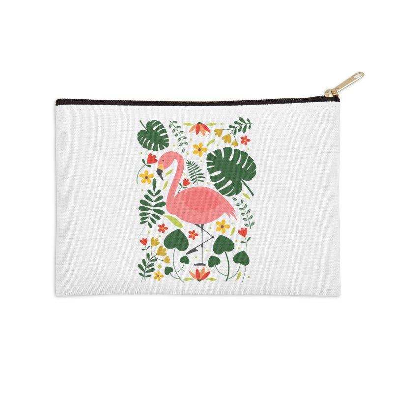 Flamingo Accessories Zip Pouch by AnastasiaA's Shop