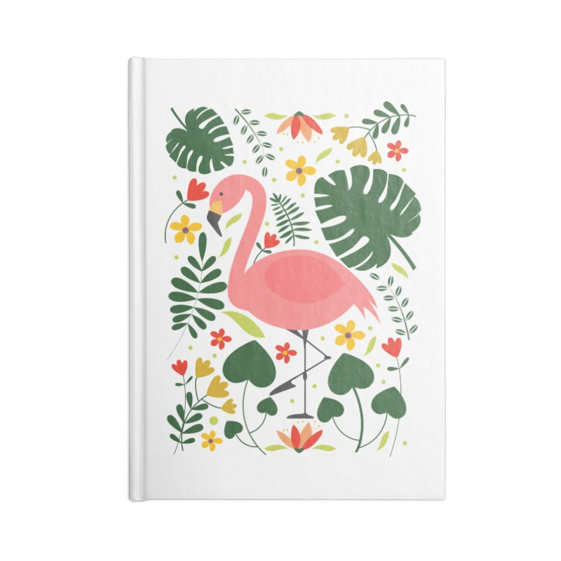 Flamingo Accessories Lined Journal Notebook by AnastasiaA's Shop