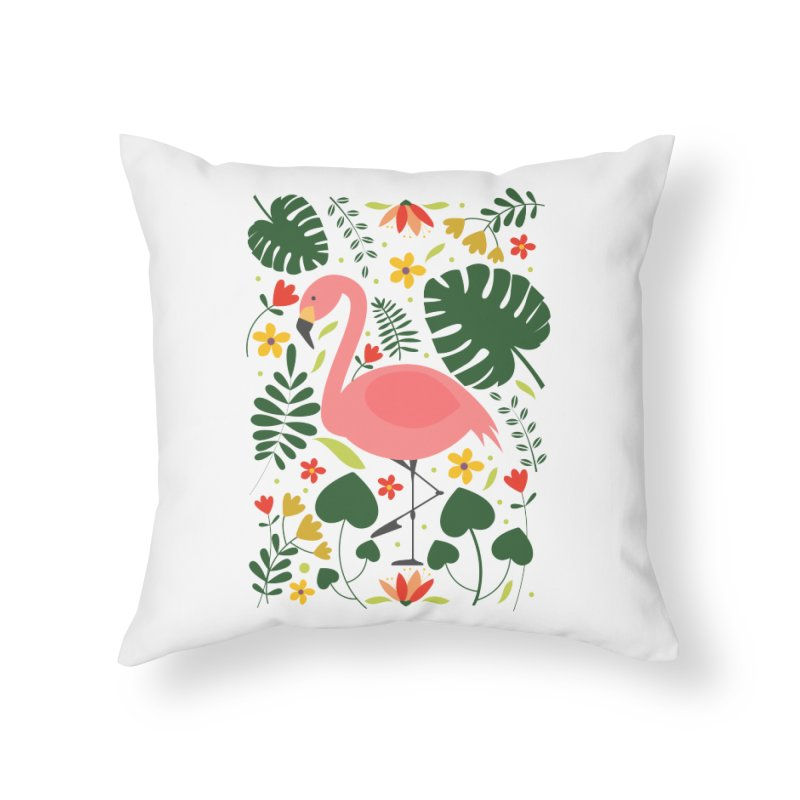 Flamingo Home Throw Pillow by AnastasiaA's Shop