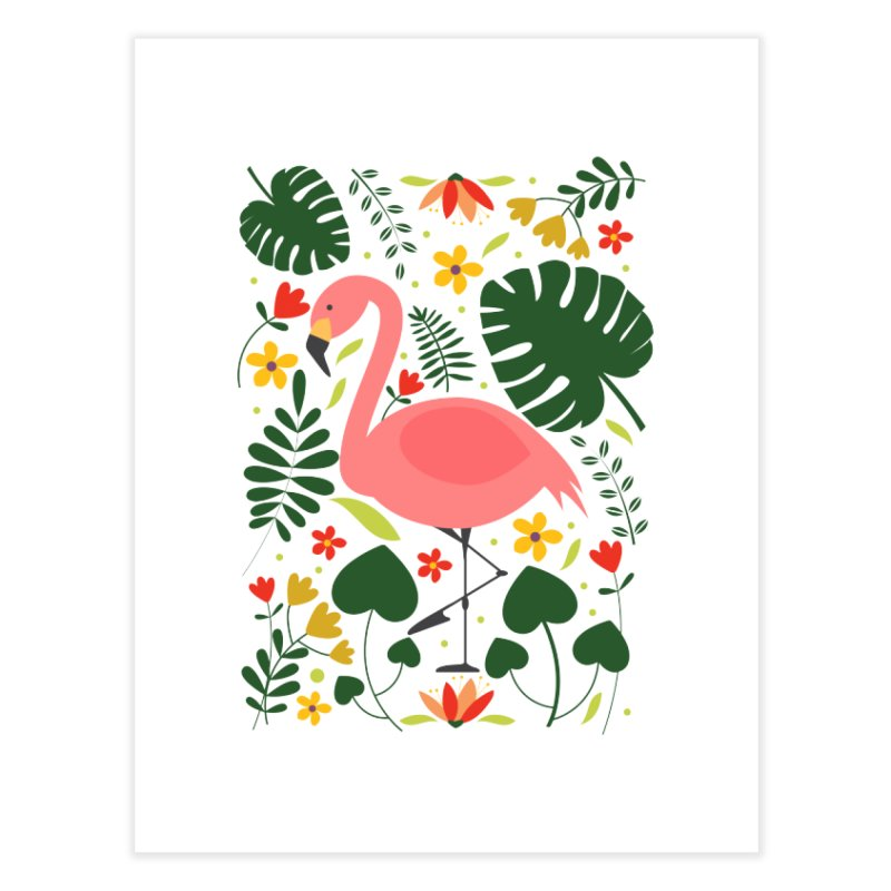Flamingo Home Fine Art Print by AnastasiaA's Shop