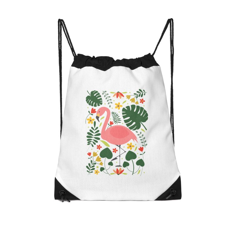 Flamingo Accessories Drawstring Bag Bag by AnastasiaA's Shop