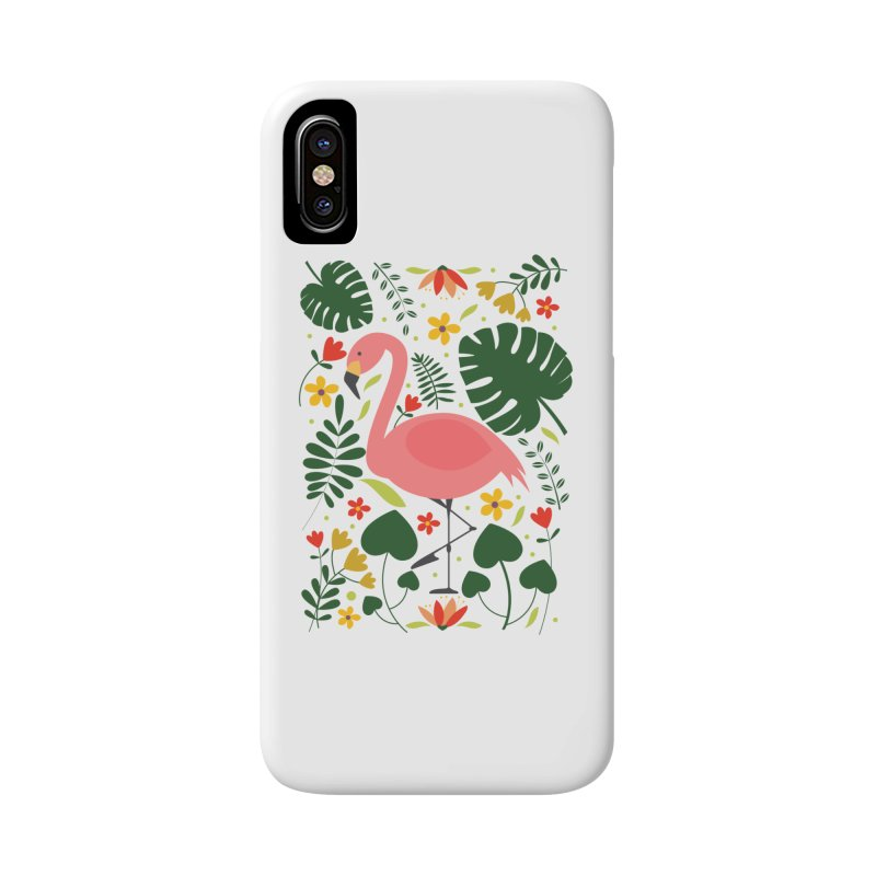 Flamingo Accessories Phone Case by AnastasiaA's Shop