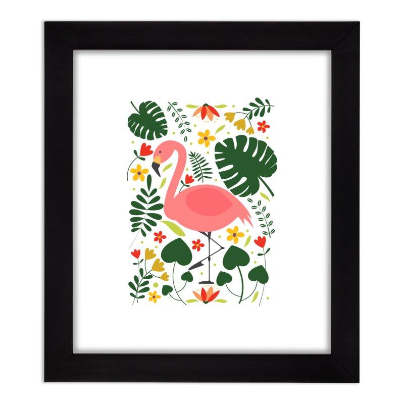 Flamingo Home Framed Fine Art Print by AnastasiaA's Shop