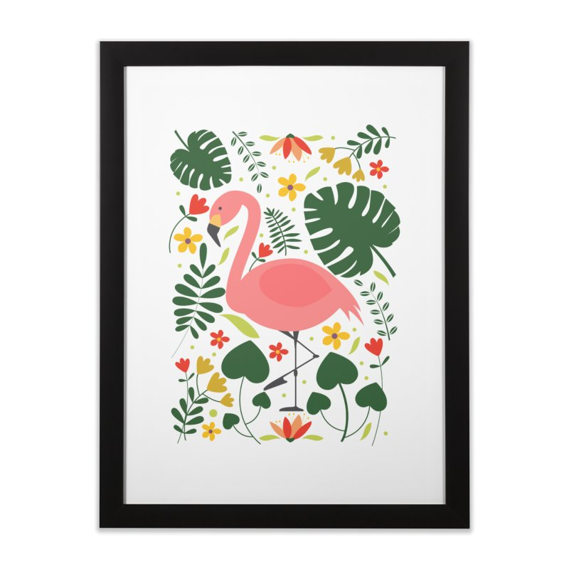 Flamingo Home Framed Fine Art Print by AnastasiaA's Shop