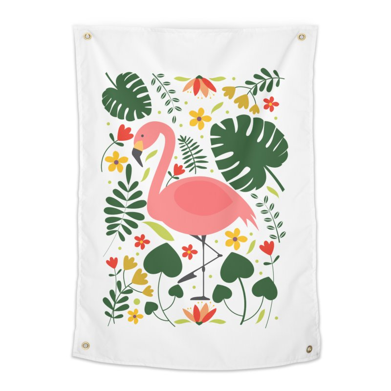 Flamingo Home Tapestry by AnastasiaA's Shop