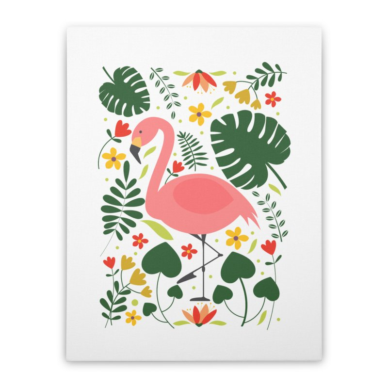 Flamingo Home Stretched Canvas by AnastasiaA's Shop