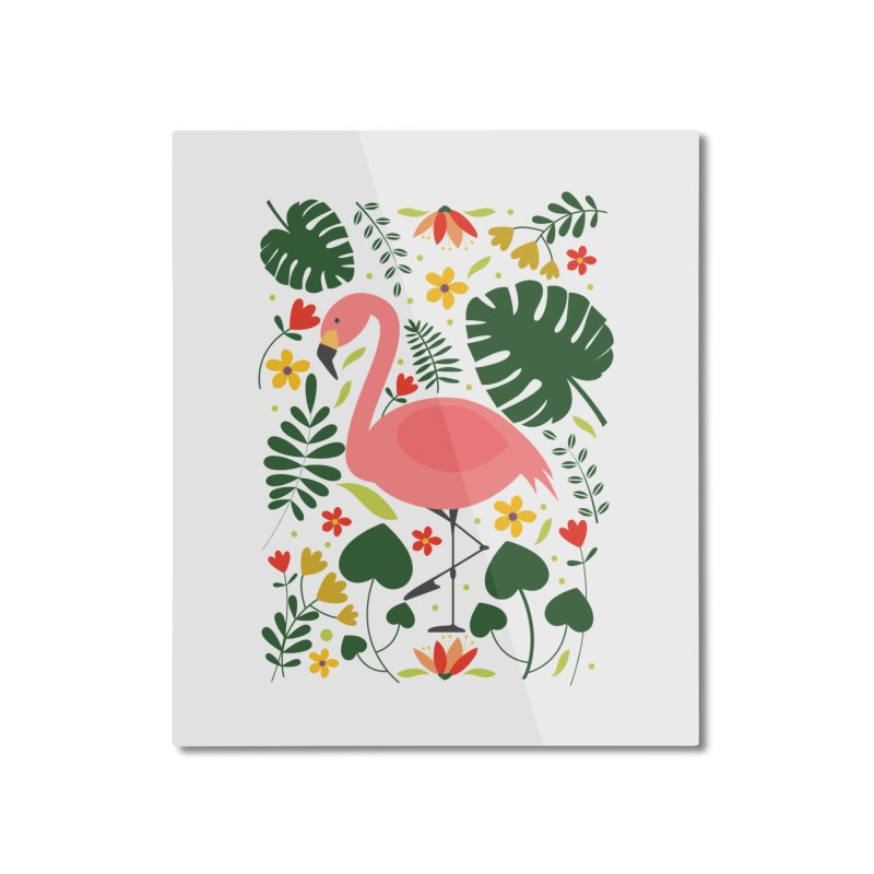 Flamingo Home Mounted Aluminum Print by AnastasiaA's Shop