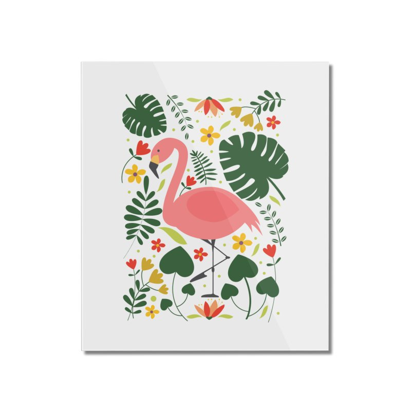 Flamingo Home Mounted Acrylic Print by AnastasiaA's Shop