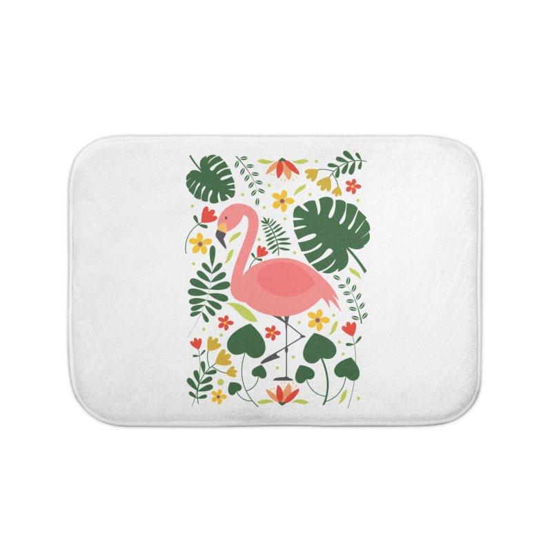 Flamingo Home Bath Mat by AnastasiaA's Shop