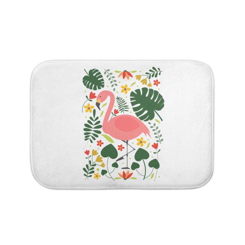 Flamingo Home Bath Mat by AnastasiaA's Shop