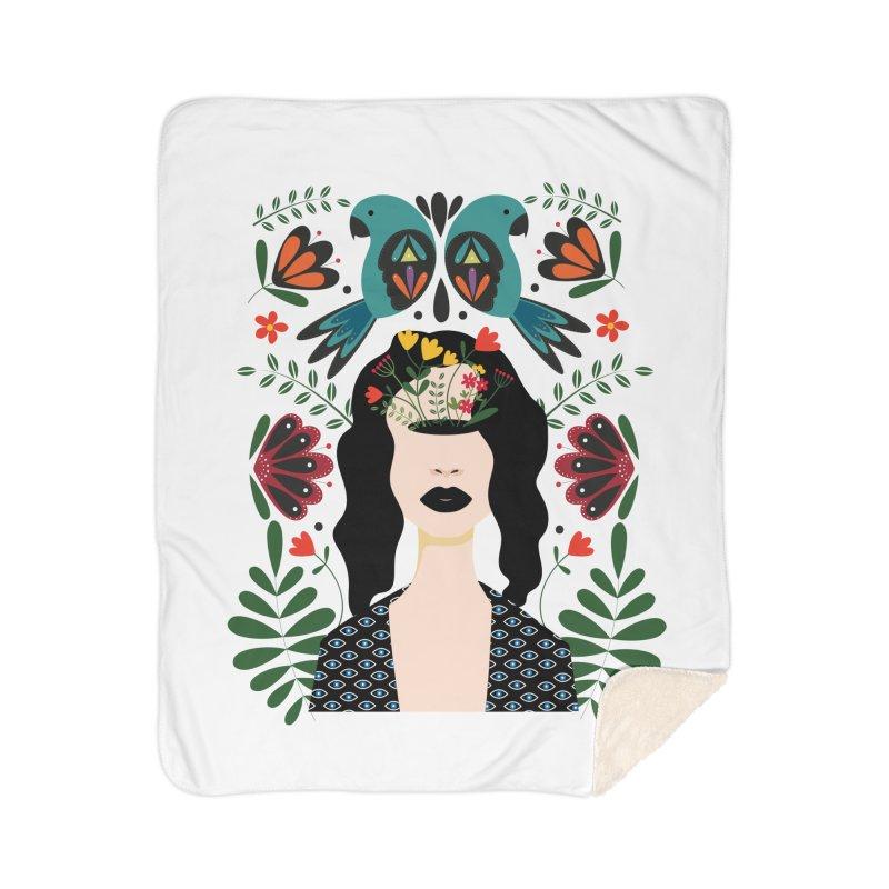 Spring Home Sherpa Blanket Blanket by AnastasiaA's Shop