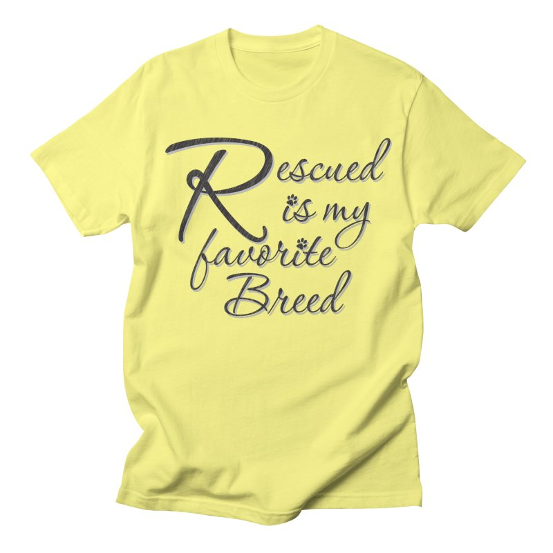 Rescued is my favorite breed (Dark) Men's T-Shirt by Andy's Paw Prints Shop