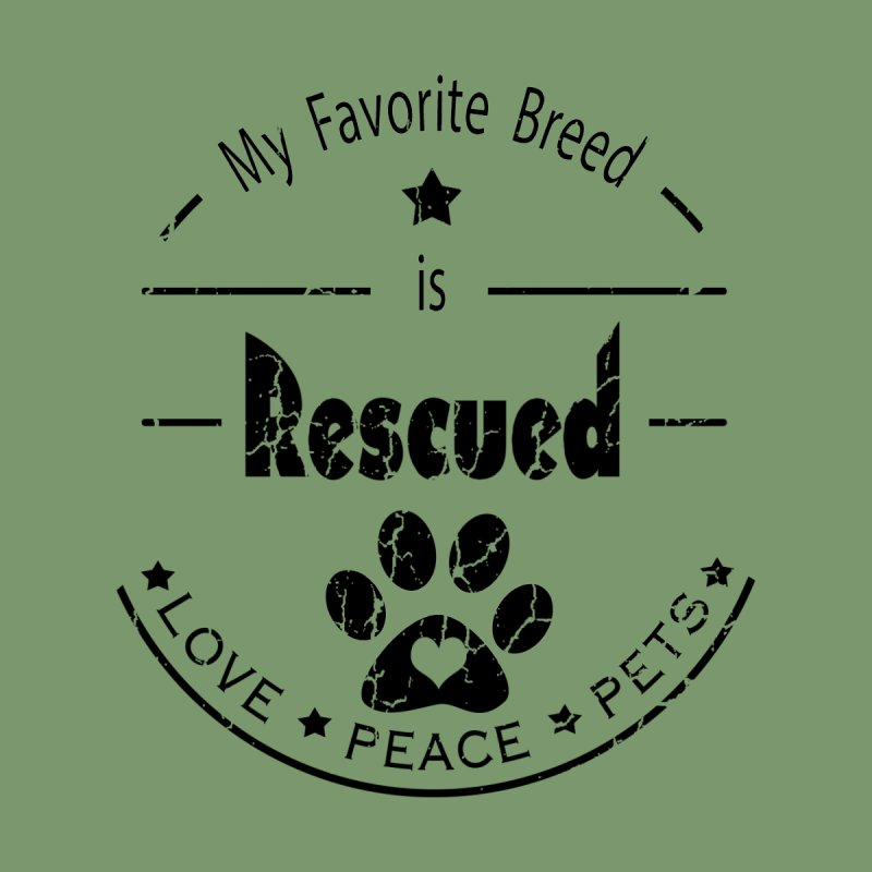 My favorite breed is rescued peace love pets (Dark) Accessories Beach Towel by Andy's Paw Prints Shop