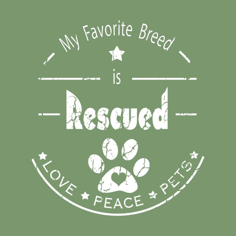 My favorite breed is rescued love peace pets (Light) Accessories Beach Towel by Andy's Paw Prints Shop