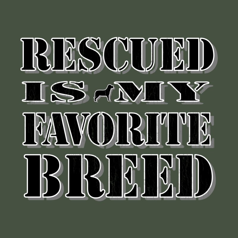 Rescue is my favorite breed stencil (Dark) Accessories Beach Towel by Andy's Paw Prints Shop