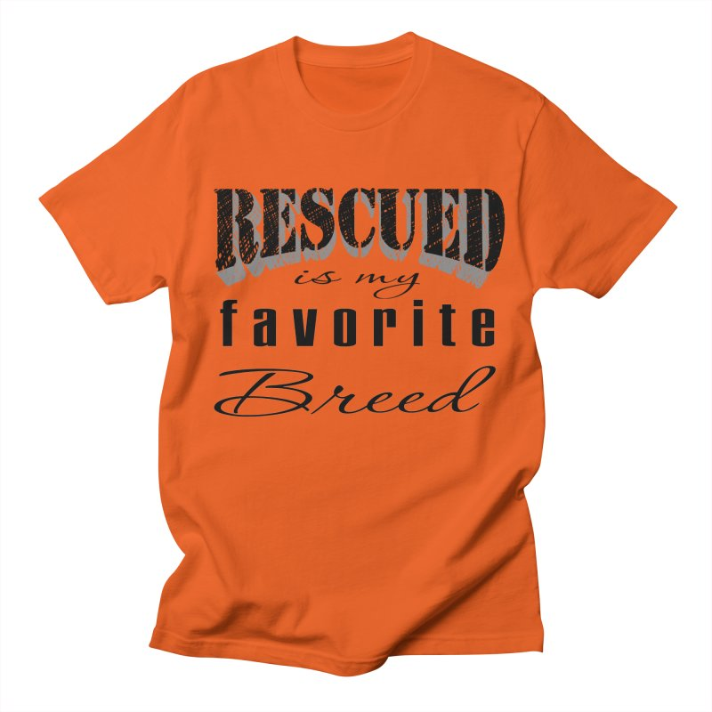 Rescued Pencil Men's T-Shirt by Andy's Paw Prints Shop