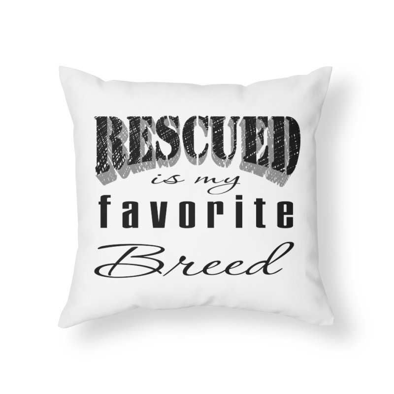 Rescued Pencil Home Throw Pillow by Andy's Paw Prints Shop