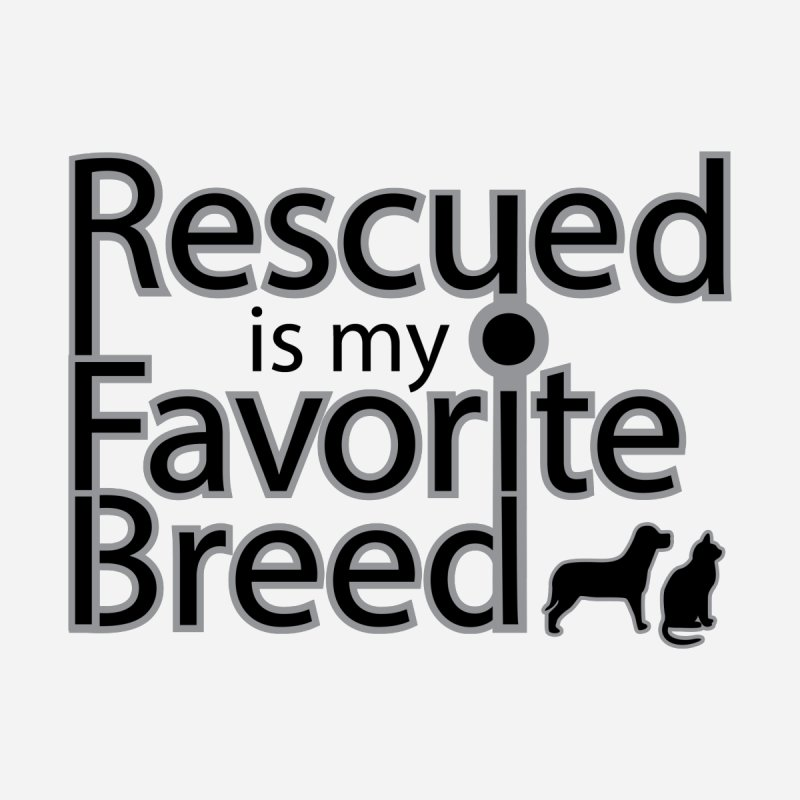 Rescued is my favorite breed Dark Mod Men's T-Shirt by Andy's Paw Prints Shop