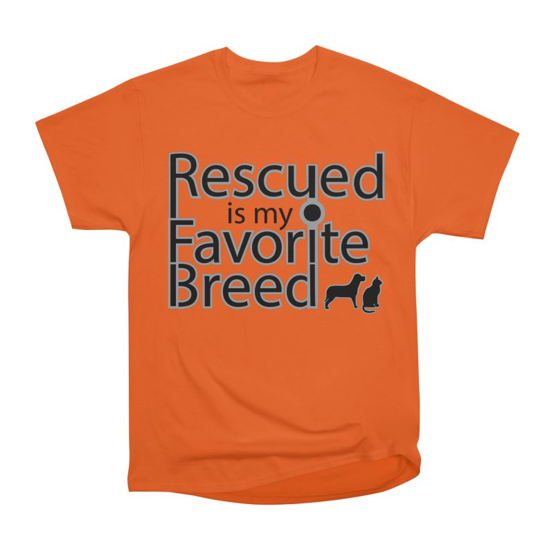 Rescued is my favorite breed Dark Mod Women's T-Shirt by Andy's Paw Prints Shop