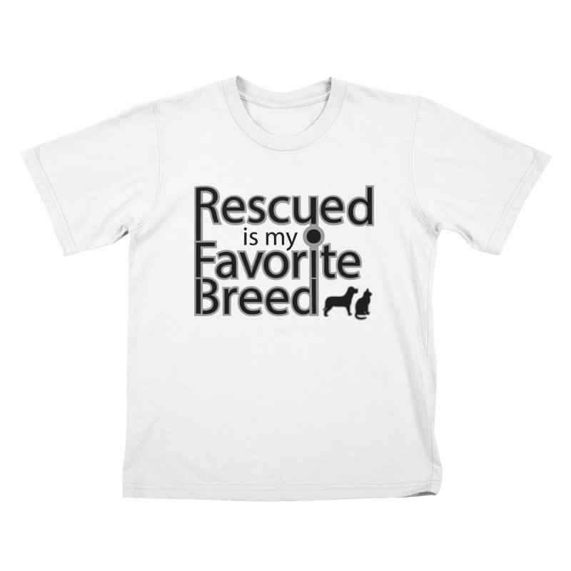 Rescued is my favorite breed Dark Mod Kids T-Shirt by Andy's Paw Prints Shop